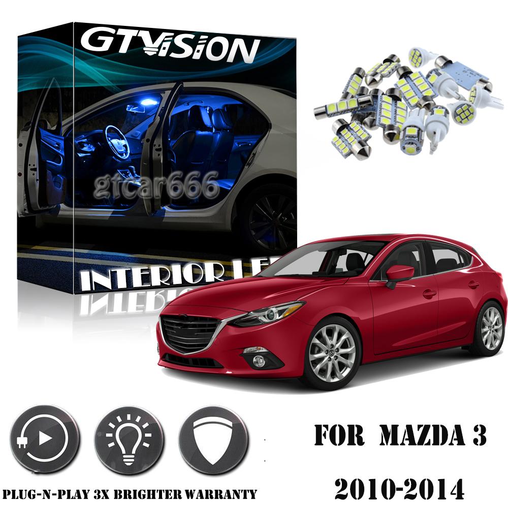 6pcs Premium Car LED Light Blue Interior Package Deal For Nissan Rogue 2008-2014