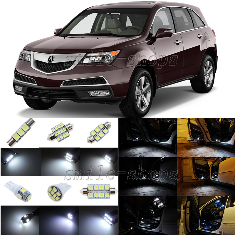 15pcs Xenon White LED Interior Light Package Fit For 2007