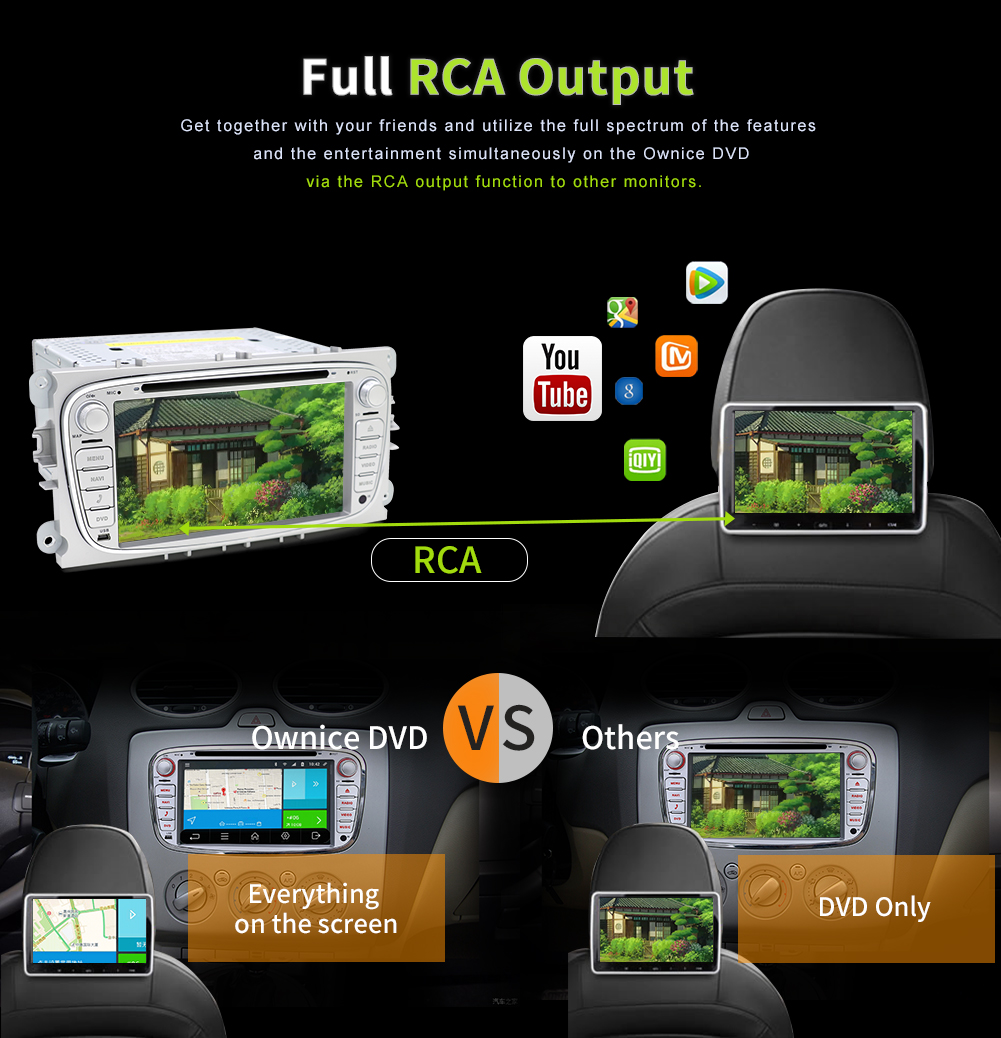 android 7 1 autoradio car stereo f r ford focus mondeo mit. Black Bedroom Furniture Sets. Home Design Ideas