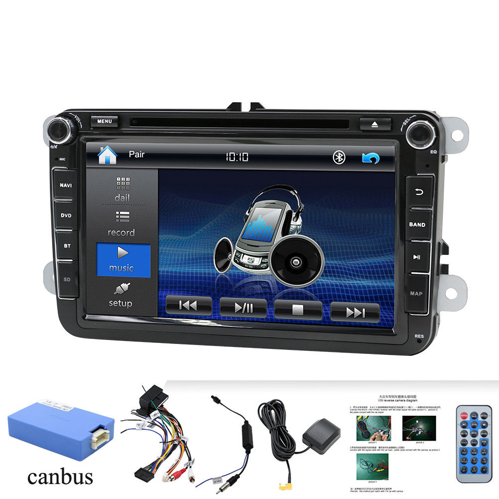 8 for vw autoradio bluetooth 2din gps navi sat dvd tiguan. Black Bedroom Furniture Sets. Home Design Ideas