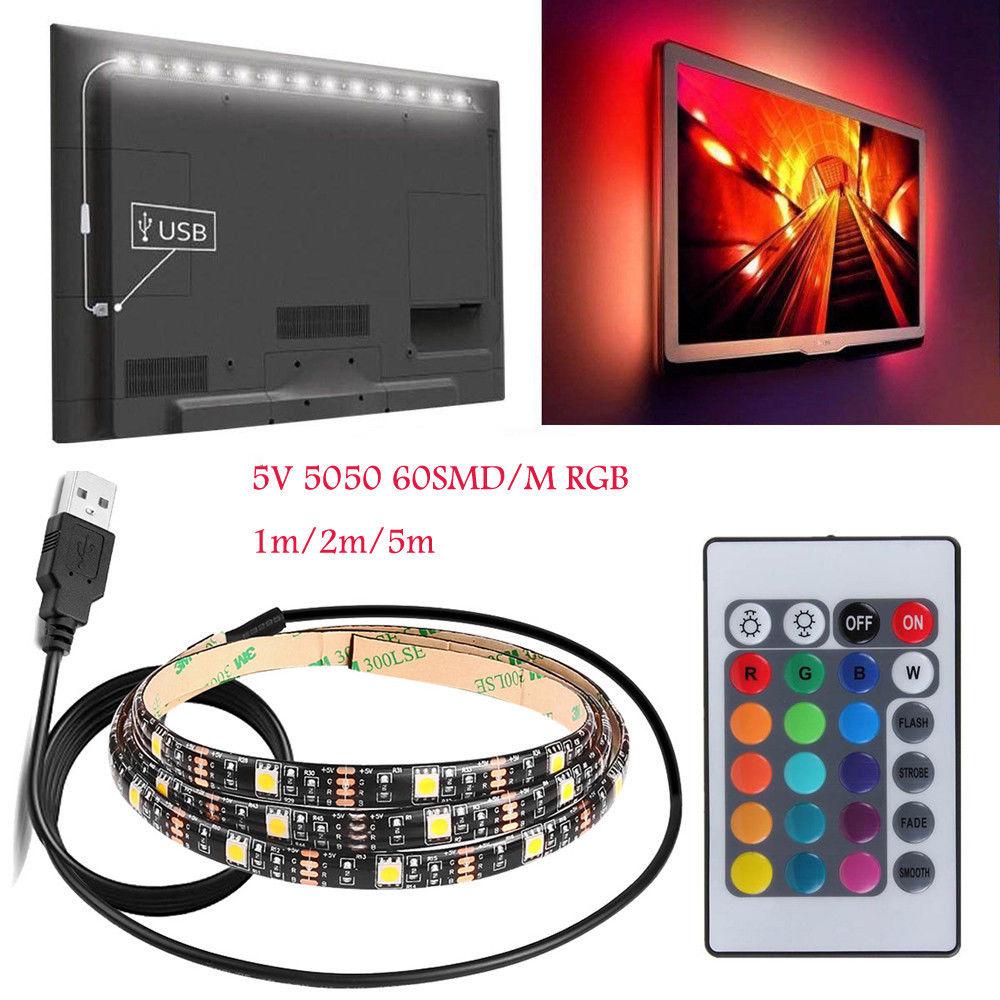 DC5V USB RGB LED Strip Waterproof TV Back USB LED Light Strips Flexible Tape