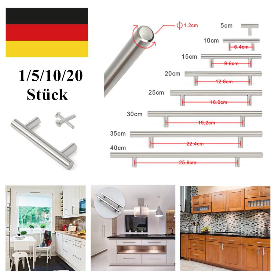 Details zu Edelstahl T Griff Stangengriff Möbelgriffe Relinggriffe  Türgriffe Küchenschrank