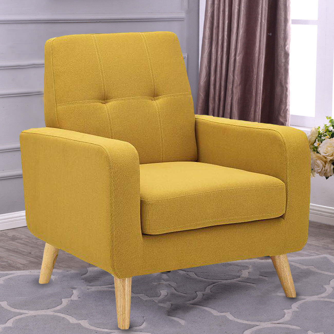 family room accent chairs arm chair accent single sofa linen fabric upholstered 15206 | 24053f29 764b 41ba b607 37a9a7803d13