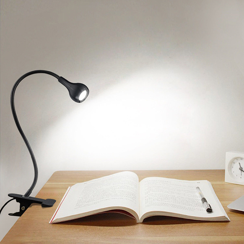 Charming Details About Flexible USB Clip On LED Desk Lamp Reading Light Bed  Headboard Study Lighting