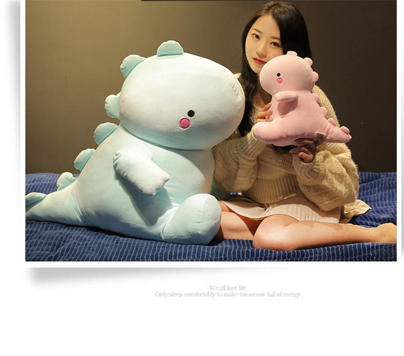 Cartoon Soft Dinosaur Plush Toy Cute Doll Baby Sleeping Pillow Creative Gift New