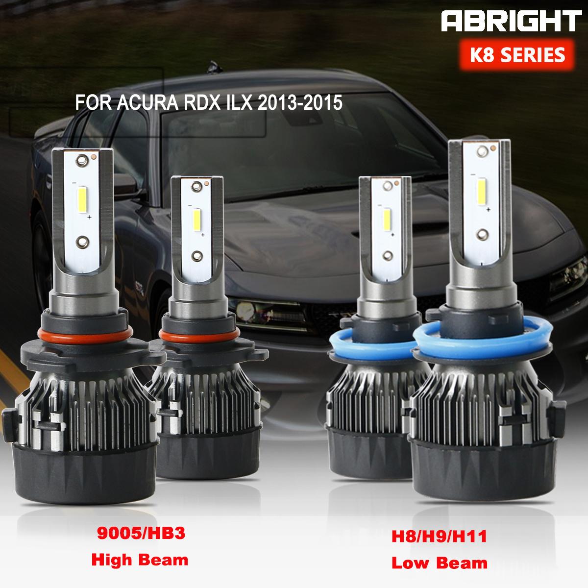 9005 H11 LED Headlight Bulb For Acura RDX ILX-2013-2015