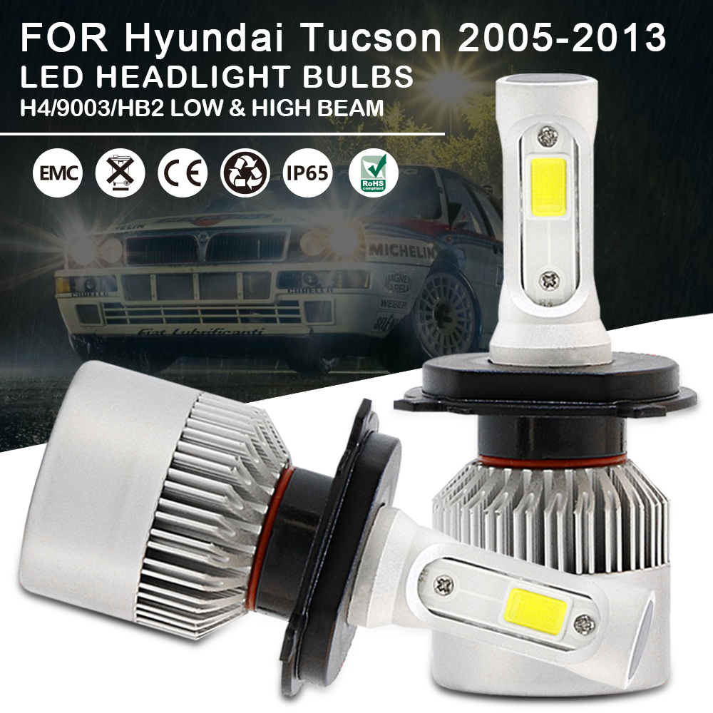 Fits Hyundai Tucson 55w Clear Halogen Xenon HID High//Low Beam Headlight Bulbs
