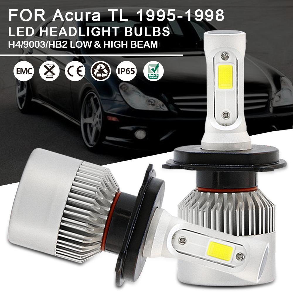 Car LED Headlight Bulbs Kit H4 9003 HB2 High Low Beam For