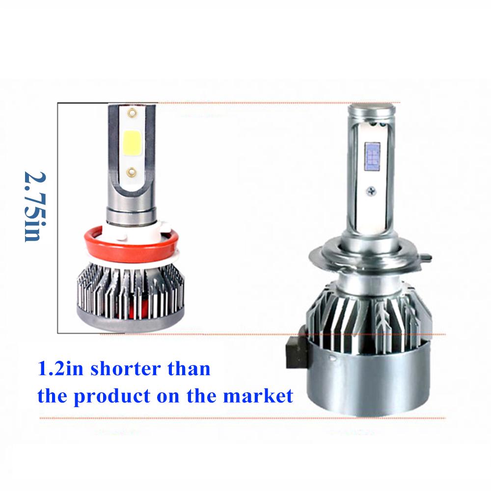 Combo LED Headlight Bulbs Kit 9005 H11 High Low Beam For