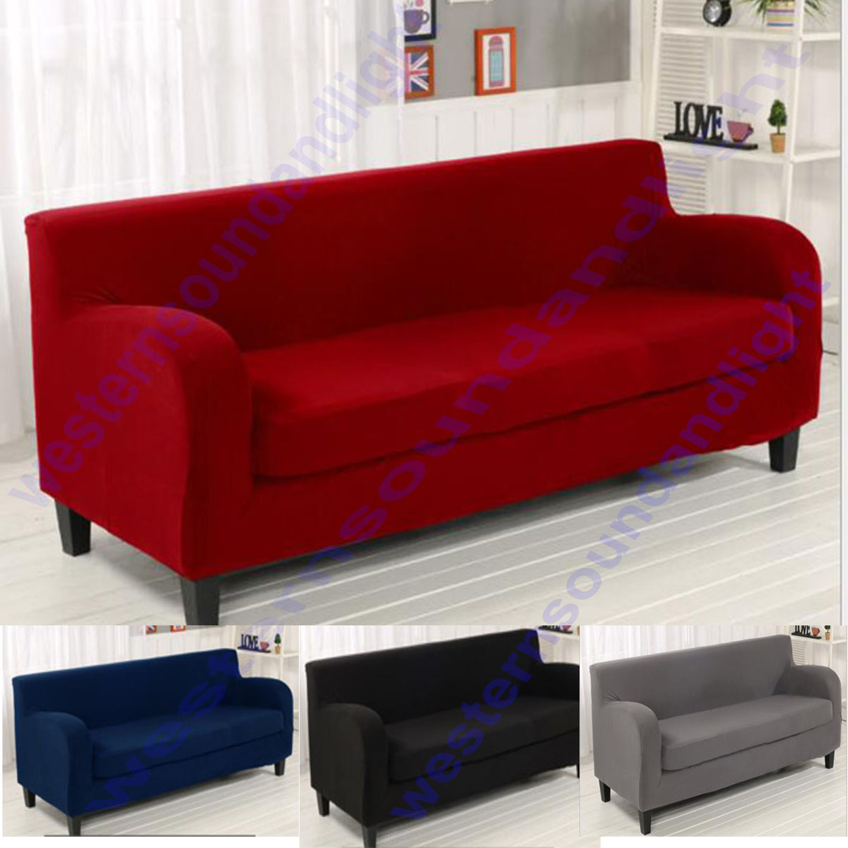 2 Piece Style 17 Colour Stretch Lounge Couch Sofa Covers Slipcover 1 3 4 Seat