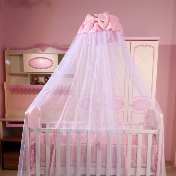 Details about Baby Boys Girls Mosquito Net Princess Crib Netting Bed Canopy  with Bowknot Decor