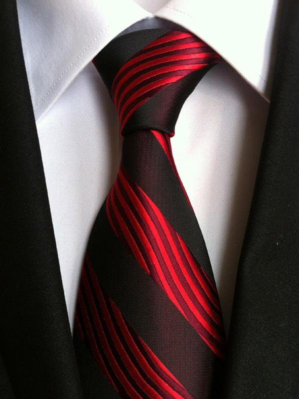 XT079 mans neck tie 100/% silk wedding prom party yellow blue white stripe ties