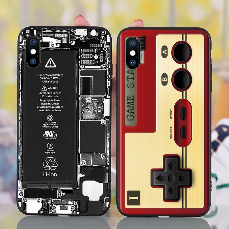 Details about For iPhone XS Max 8 6s 7 Plus New Retro Pattern Soft Silicone  Rubber Cover Case