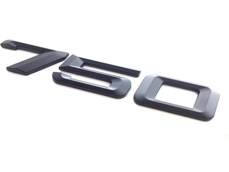 1Pcs Black 750Li Plastic Car Trunk Rear Nameplate For 7-Series E65 E66 E67 E68
