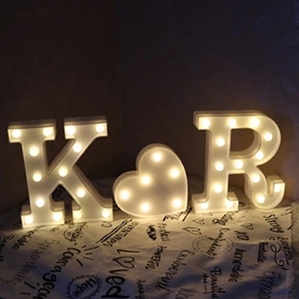 22cm led marquee letter alphabet light vintage circus style light up