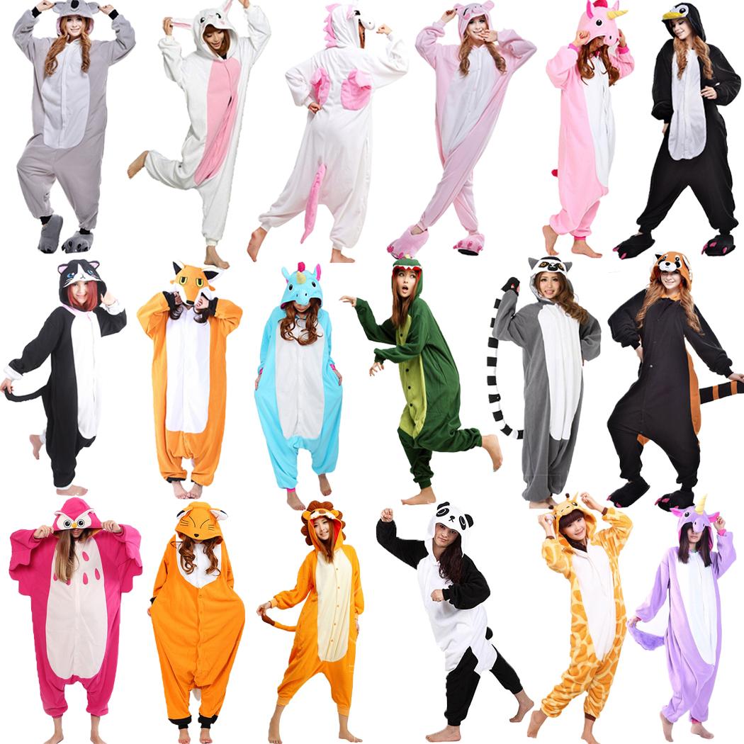 New Unisex Adult Pajamas Kigurumi Cosplay Costume Hot Animal Sleepwear Suit