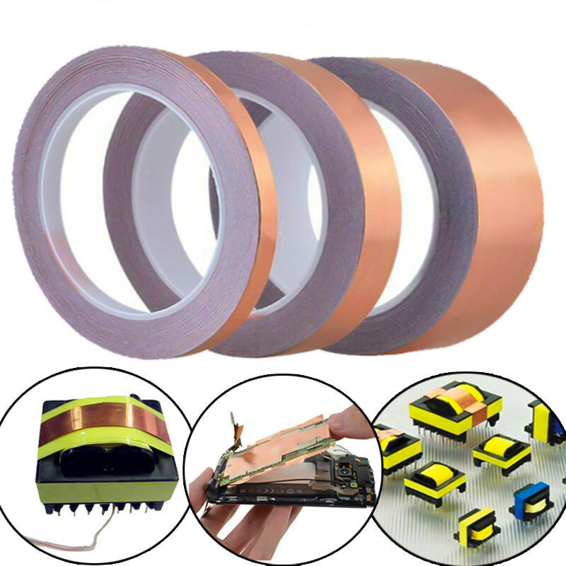 New Arrival 5mm x30M Copper Foil Conductive Tape EMI Shielding Adhesive Bar wer