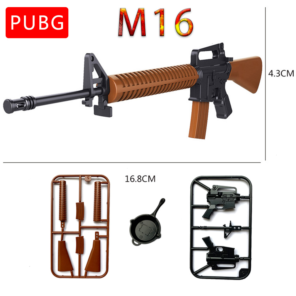 1:6 PUBG M416 Action Figure HK416 Gun Model Assembling Puzzles Building Bricks
