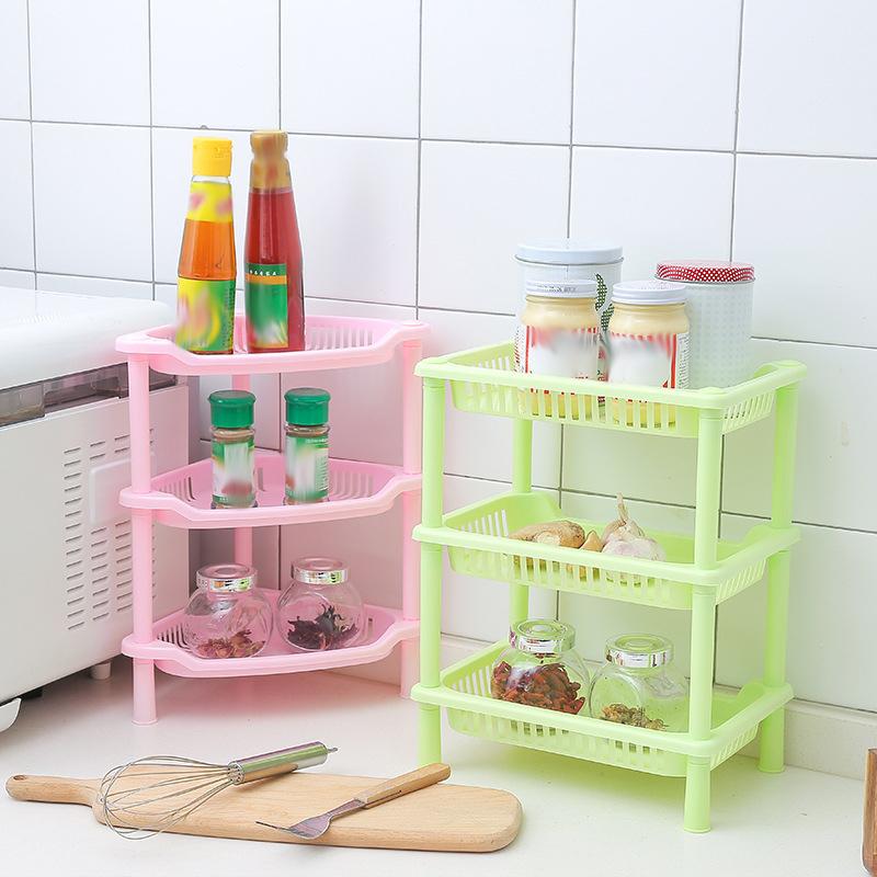 3 Tier Plastic Bathroom Shower Shelf Kitchen Rack Shelves Holder Organizer