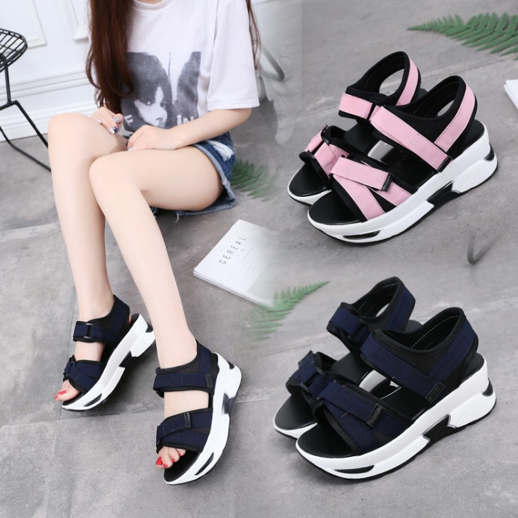 3b168c574ad Summer Womens Strappy Platform Creepers Shoes Wedge Heels Sport Sandals  Sneaker