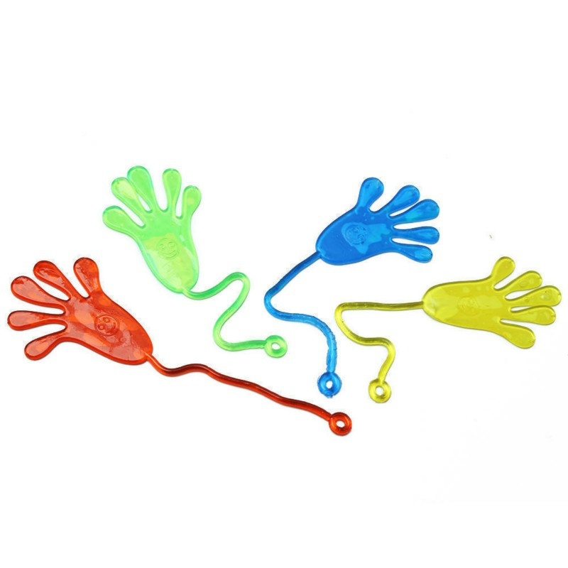 5pcs Elastic Sticky Squeeze Slap Hands Palm Toy Children Kid Party GifHFCA