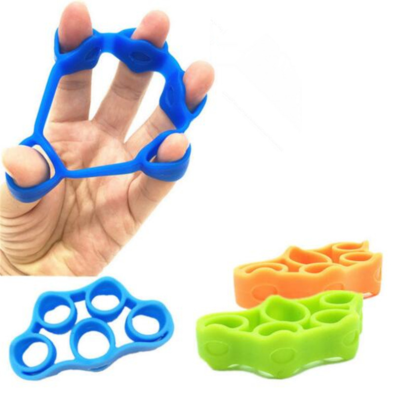 1PC Finger Stretcher Silicone Hand Grip Strength Wrist Exercise-Trainer K0X0