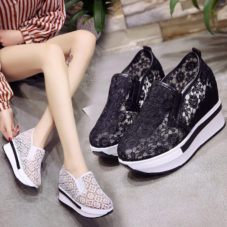 Womens Casual Wedges Shoes Ladies Comfy
