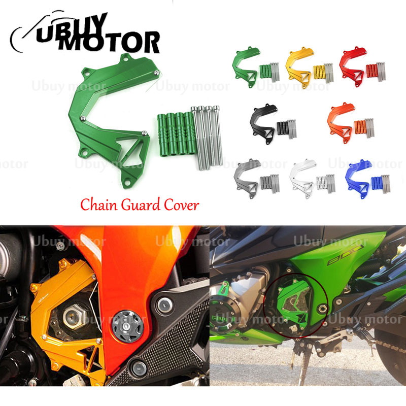 Titanium Motorcycle Front Sprocket Chain Cover Guard Left Side Engine For Kawasaki Z1000 2012-2016