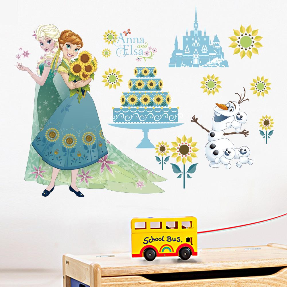 NEW Disney Frozen Elsa Removable Wall Stickers Kids Home Decor US seller