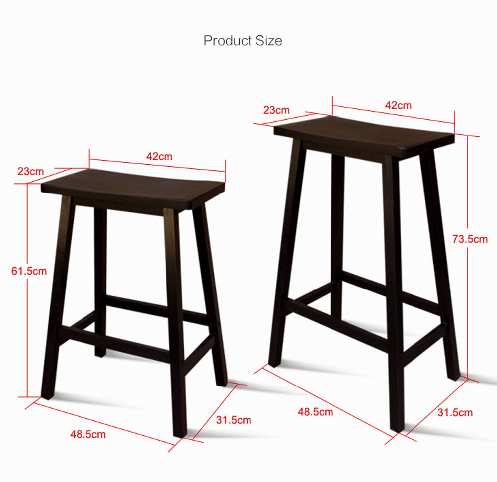 "24"" 29"" Height Counter Stool Set Of 2 Bar Stools Kitchen"