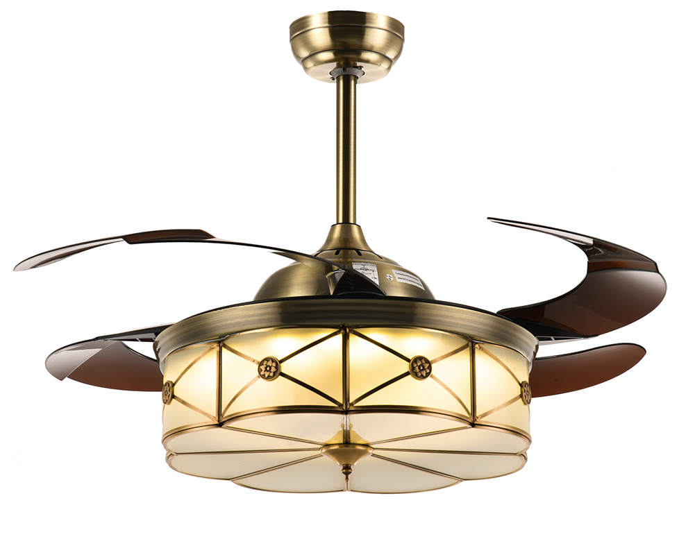 Ceiling Fans with Retractable Blades and Remote Dimmable LED Fan ...
