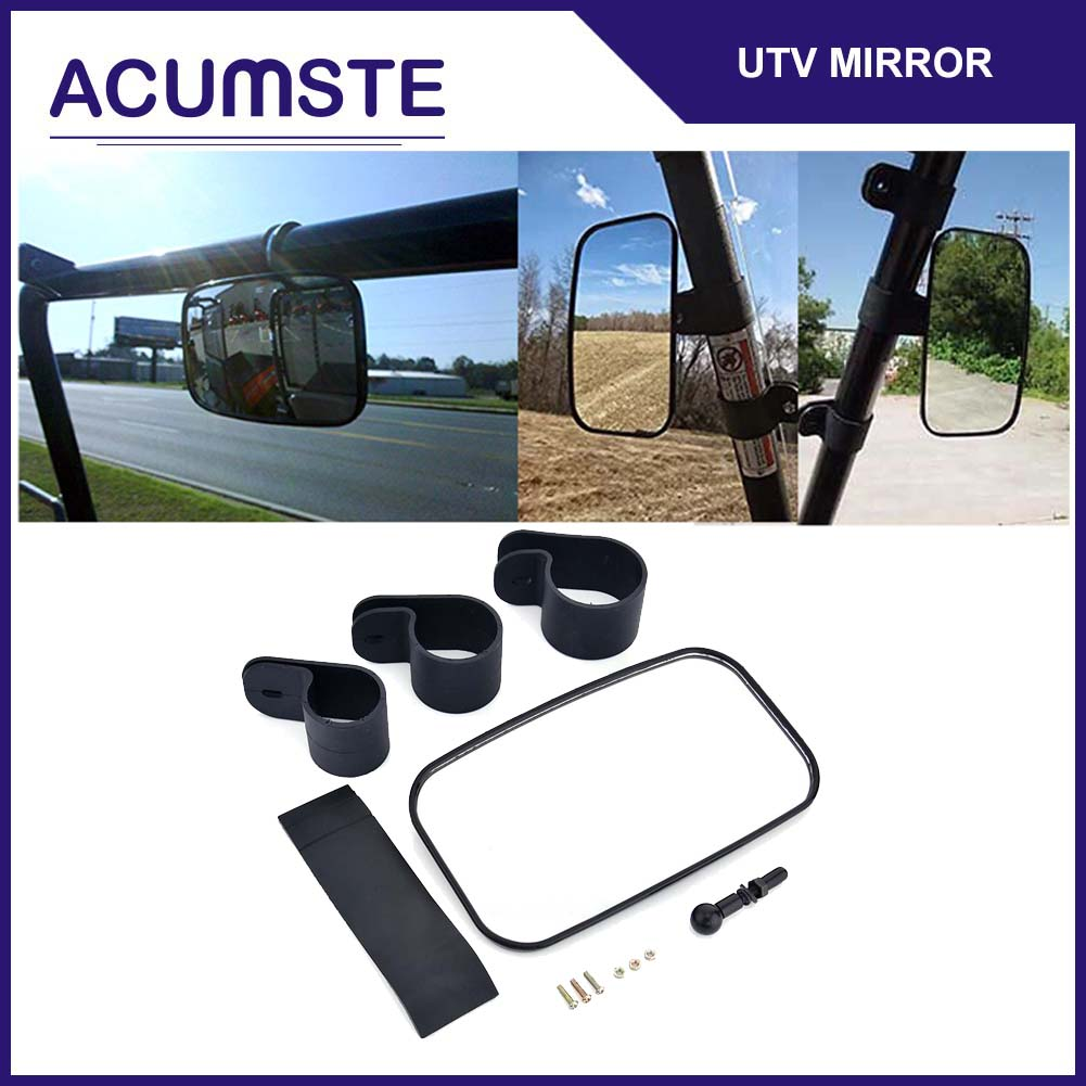 Center Mirror Adjustable Wide Rear Clear View For UTV Off Road Universal NEW