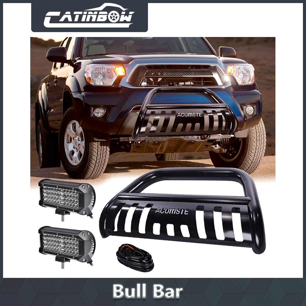 Details About Blk Bull Bar Grill Guard 7 48led Work Light Wiring Harness For Tacoma Led Dust Runners Lighting