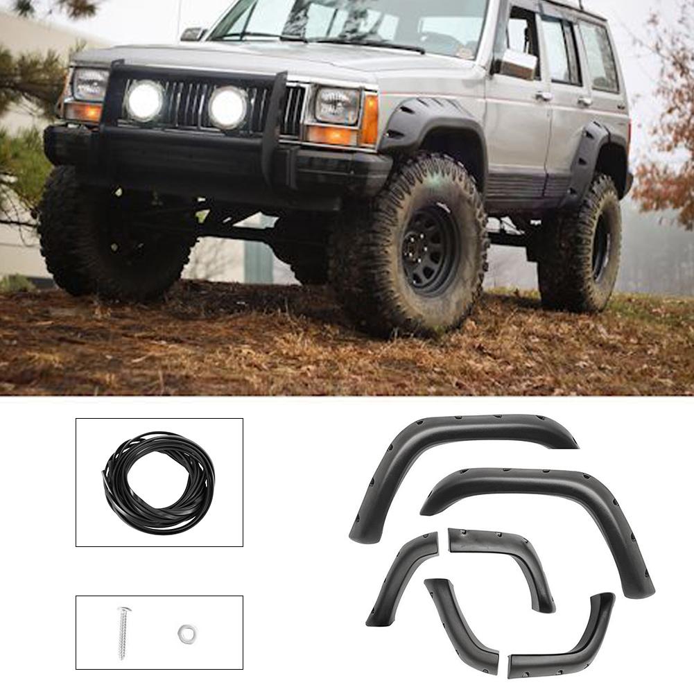 Góra For 84-01 Jeep Cherokee XJ 4-Door Pocket Rivet Off-road Wheel Wide BT55