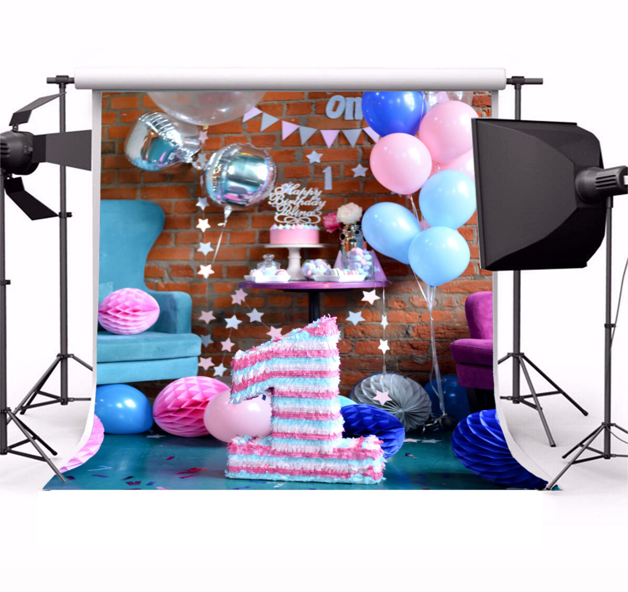 Vinyl Photography Backdrops Birthday Party Kids Theme Background