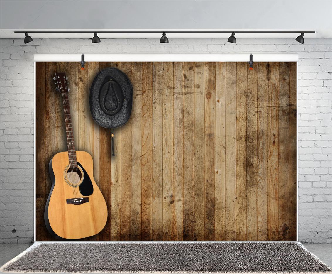 Wandplank Retro Cubes.Guitar Wood Plank Retro Photography Background Studio Photo Props