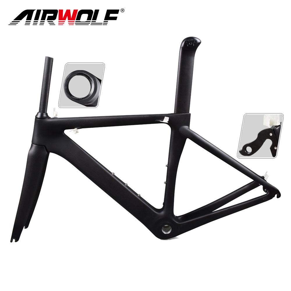 Carbon Bike Frame >> Details About 2019 Carbon Fiber Bike Frame Fork Seatpost 48 51 54 56cm Road Bike Frameset
