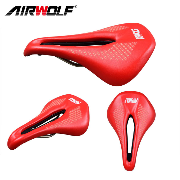 New Luxury Leather Carbon Fiber Cycling Bike Bicycle Oval Bow Racing Seat Saddle