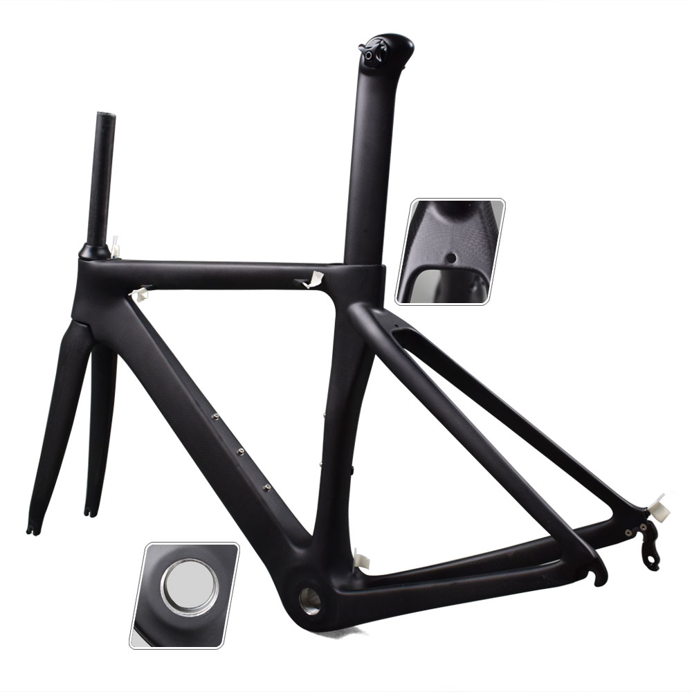new product a7b1b 7aba8 Details about 2019 Carbon Frame BSA Bicycle Frame Road Bike  Frame/Fork/Seatpost 48-56cm- show original title