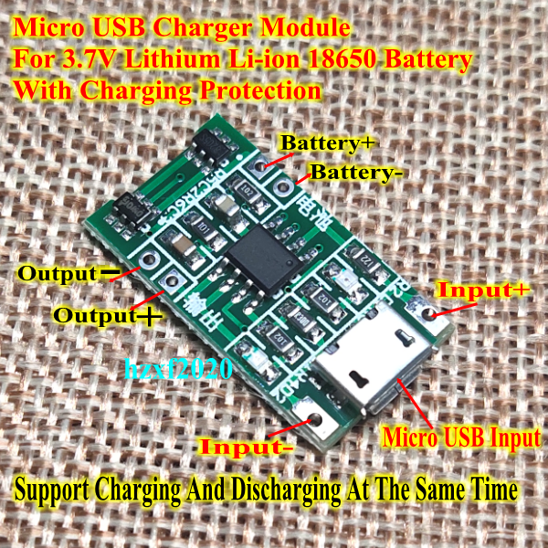 5V Micro USB 1S Lithium Li-ion 18650 Battery Charging Charger Module Protection