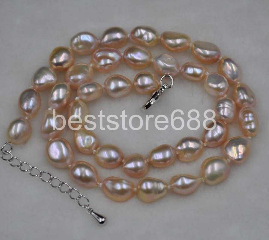 """18/"""" 24/"""" 36/"""" 48/"""" 10-11mm Natural White Rice Akoya Cultured Pearl 14K GP Necklace"""