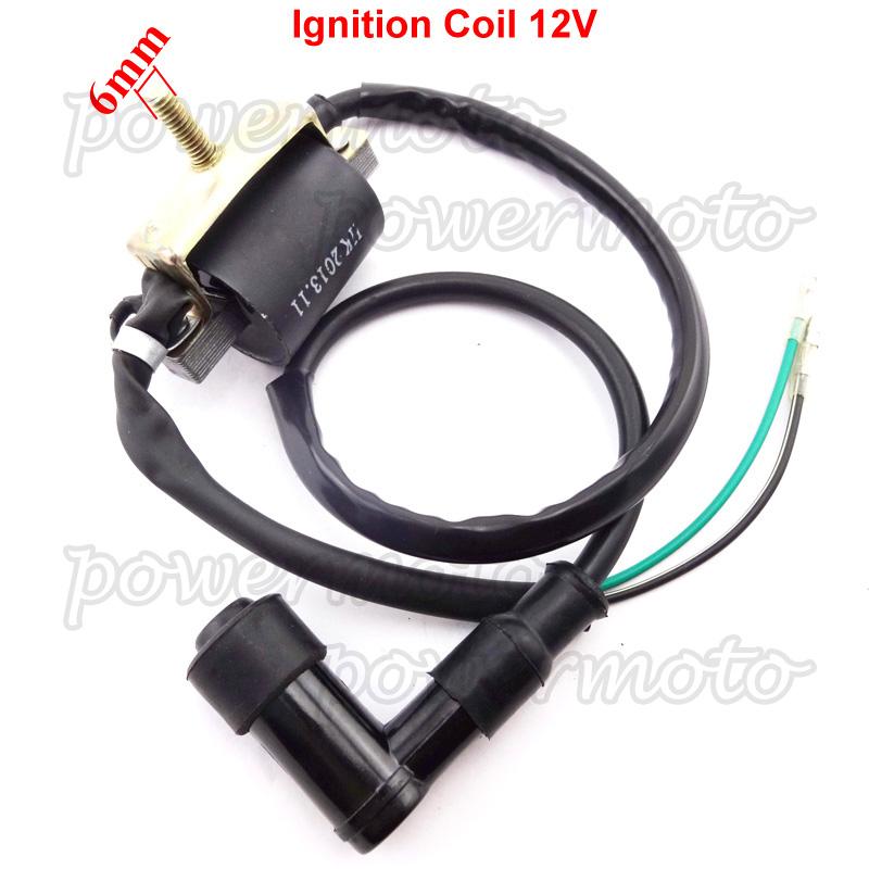 Details about 12V Ignition Coil For 50 70 90 110cc 125cc Pit Bike Taotao  Roketa SSR ATV Quad
