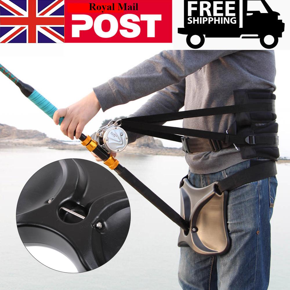 Fishing Fighting Belt Adjust Fishing Stand up Harness Waist Rod Pole Holder Q
