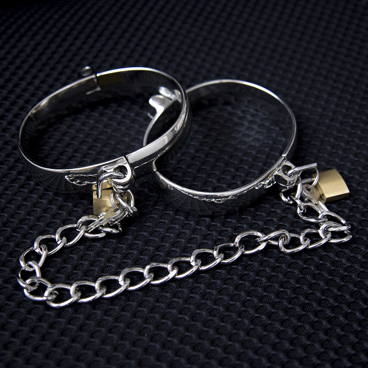 Details about Lockable Stainless Steel Handcuff Shackle Wrist Ankle Cuffs  Chain Sex Restraints