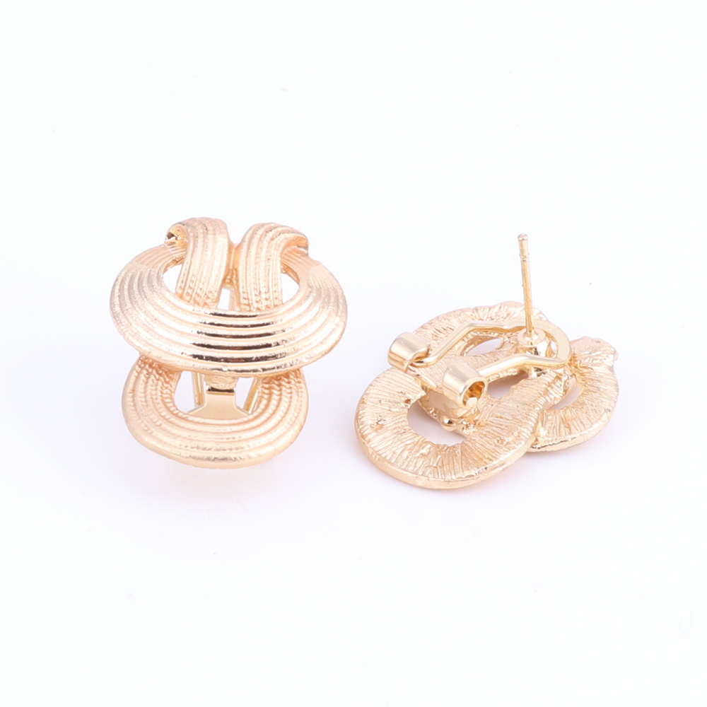 New-Design-Statement-Earings-Necklace-Bangle-Ring-Women-Gold-Plated-Jewelry-Set thumbnail 23