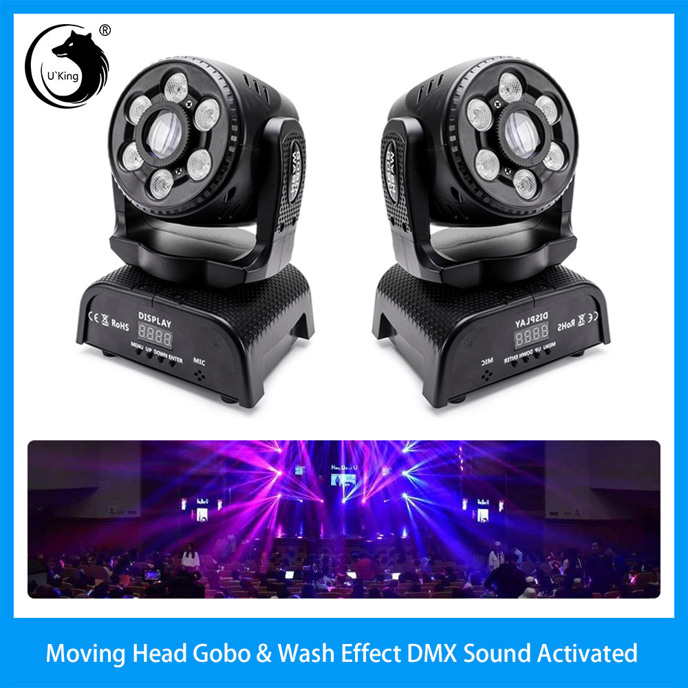 Details About 2pcs 100w Gobo Wash Moving Head Stage Light Patterns Dj Dmx512 Party Disco