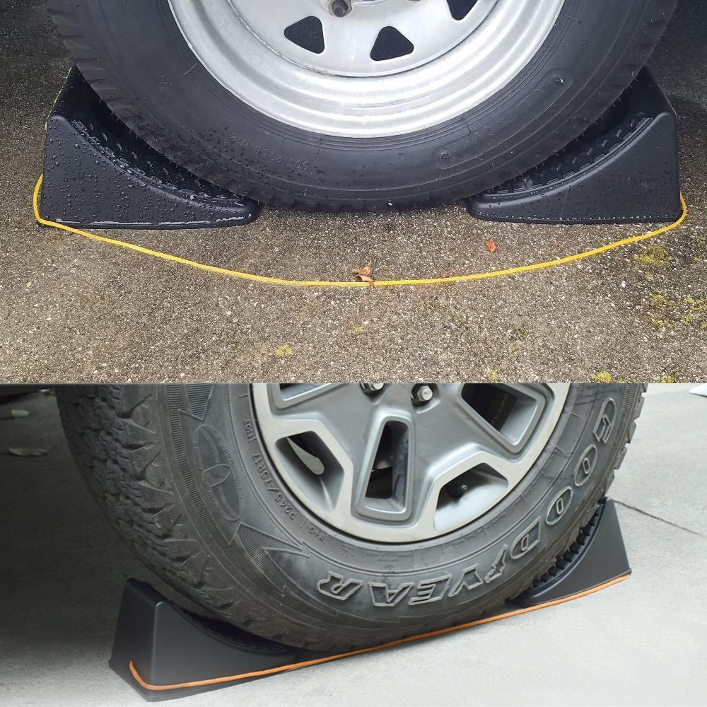 Camper Wheel Chocks >> Details About 4pcs Wheel Chocks Stop Tire Camper Trailer Car Truck Stopper Block