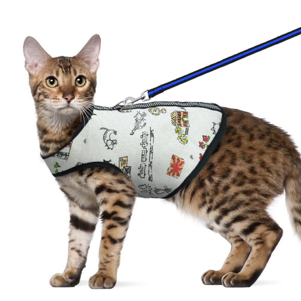Cat Harness Set Nylon Cat Harness Set Cat Clothes Coat Walking ...