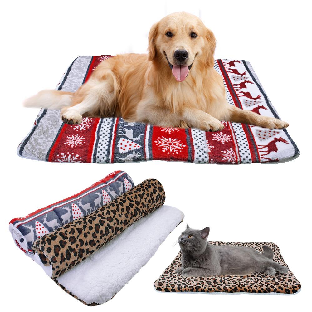 Cool Details About Christmas Elk Fleece Winter Dog Blanket Cushion Cat Puppy Pet Bed Mat Sofa Cover Machost Co Dining Chair Design Ideas Machostcouk