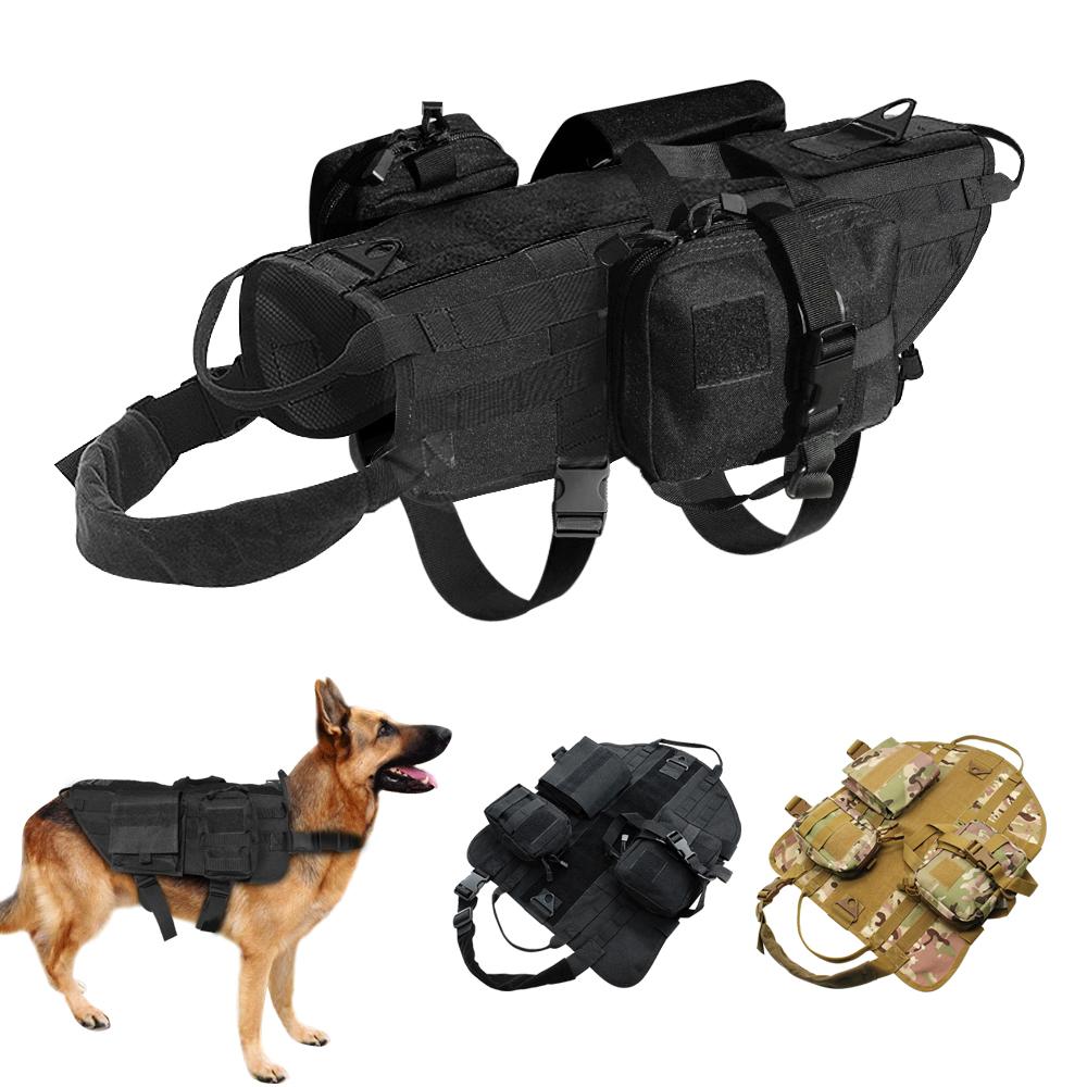 Military Working Dog Harness K9 Molle Tactical German Shepherd Vest